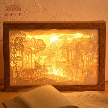 中国国家博物馆 大观园纸雕灯卧室LED灯  中国风文创小夜灯 32cm x 22cm x 4.5cm