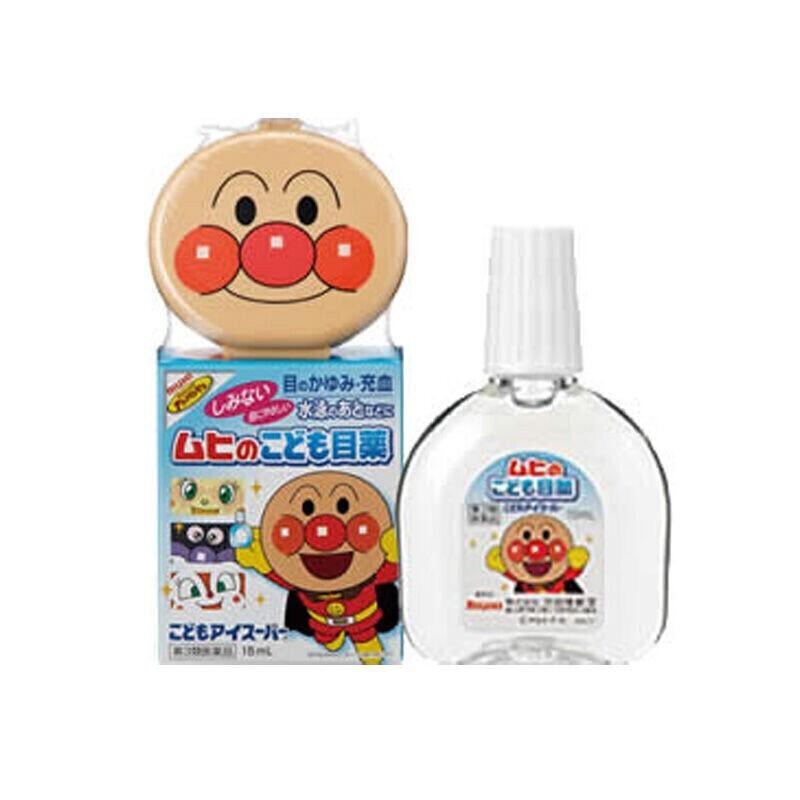 【JD物流】【全球购】日本原装进口乐敦(ROHTO)眼药水 儿童面包超人眼药水15ml