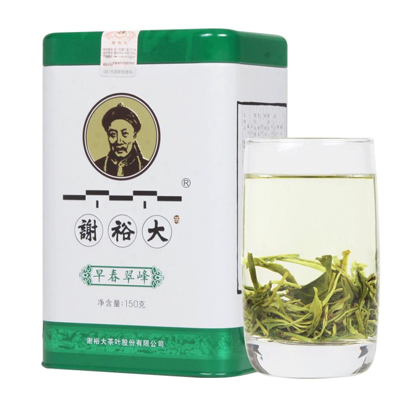 2021新茶上市 谢裕大 黄山毛峰 绿茶叶 早春翠峰150克 中华老字号
