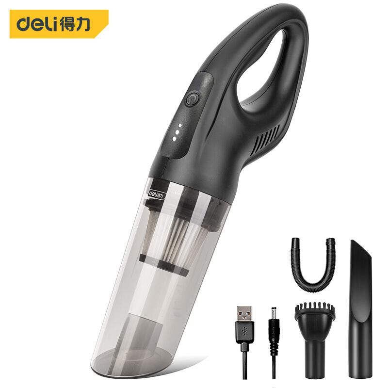 得力(deli) 无线车载吸尘器小型手持车家两用 便携式大功率大吸力锂电汽车吸尘器桌面吸尘器 DL8080