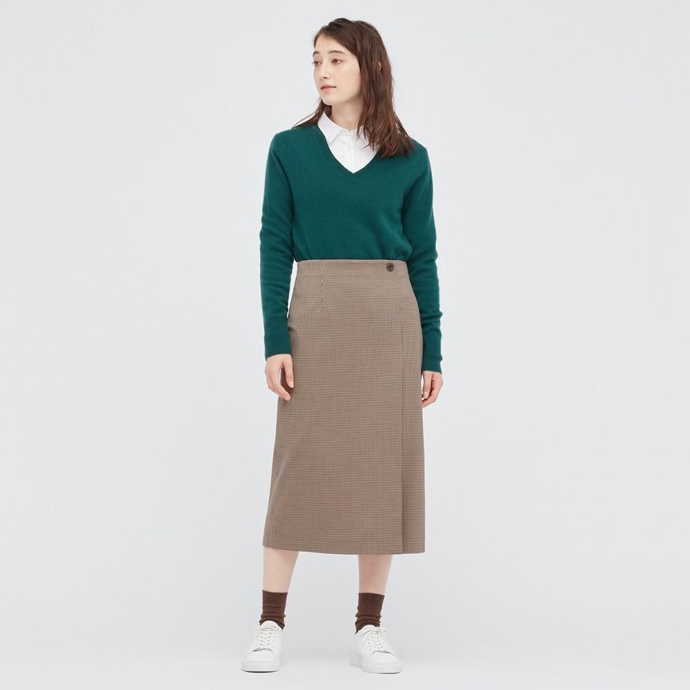 UNIQLO 优衣库 446245 女士格纹半身裙