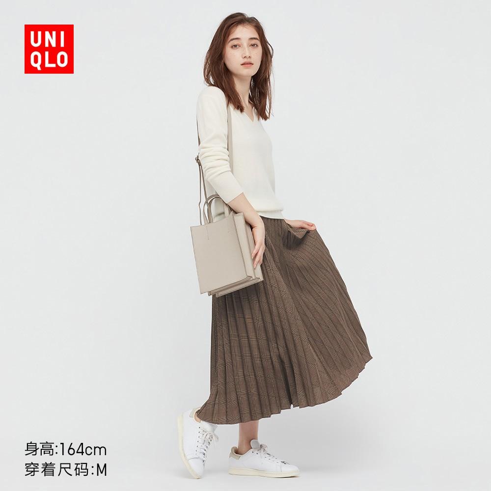 UNIQLO 优衣库 439491 女装打褶半身裙