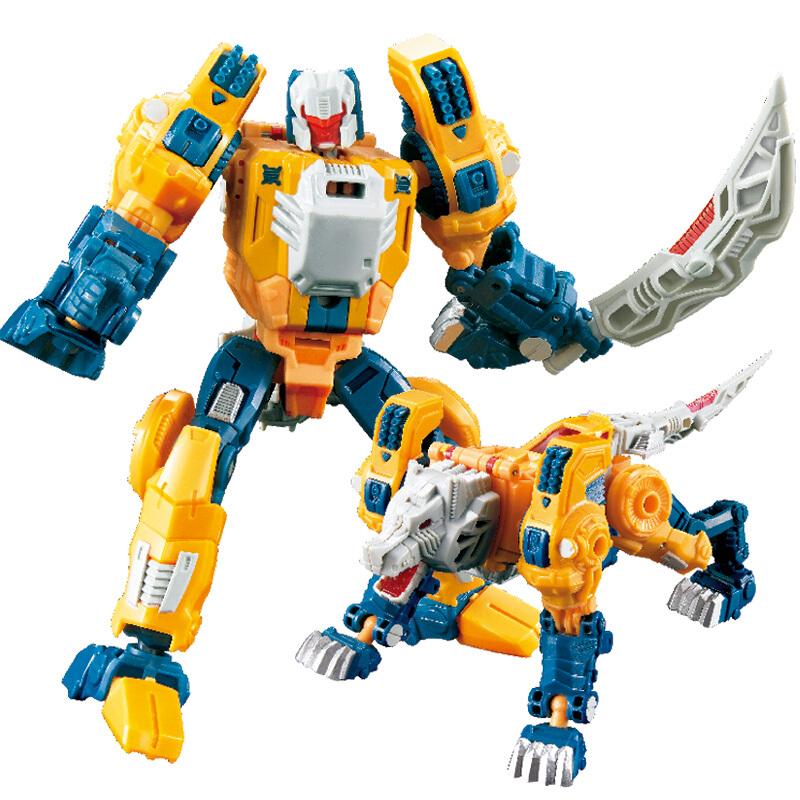 陆霸 酷龙玩具(CLON)威将头领战士钢铁变形联盟金刚合金版男孩节日新年礼物 头领战士-人狼(非合金版)