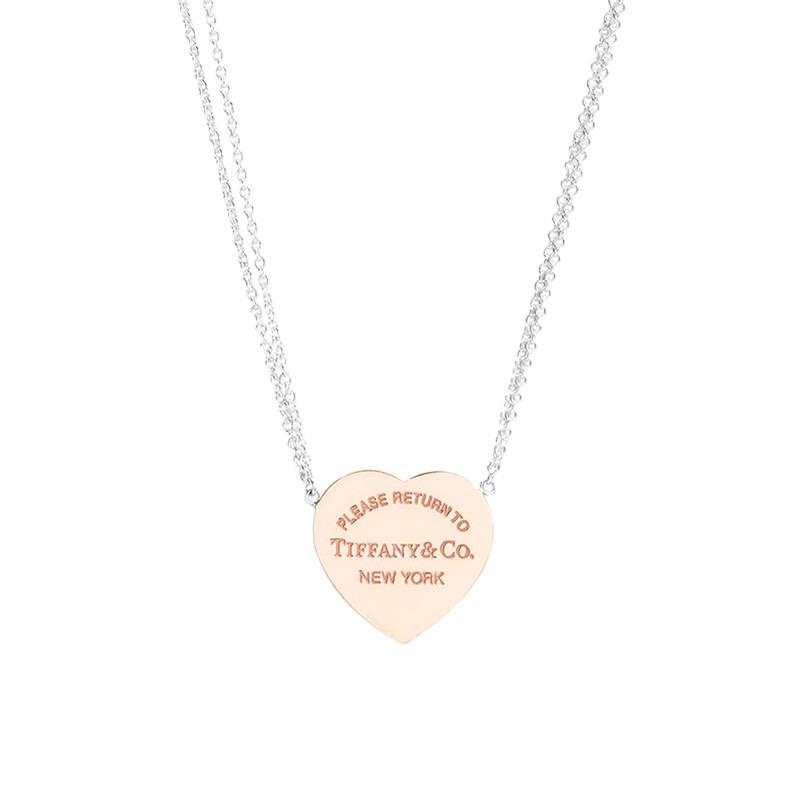 Tiffany&Co. 蒂芙尼 RETURN TO TIFFANY系列 时尚双链心形吊坠项链 29633738