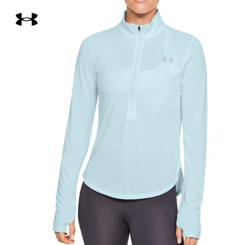 安德玛官方UA Streaker女子1/2拉链跑步运动卫衣1326502