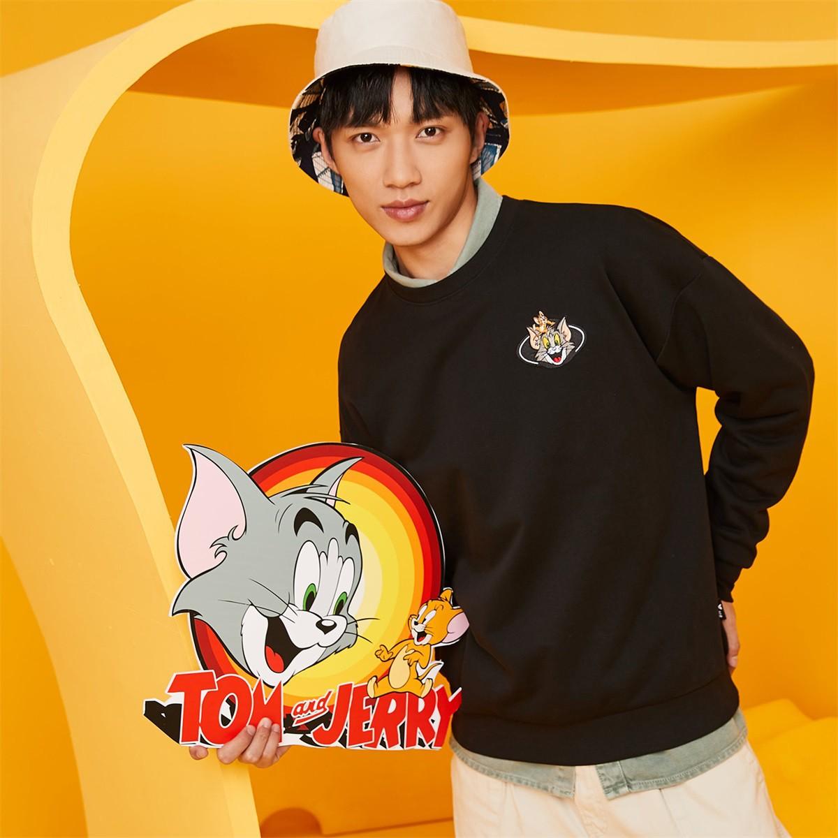 XTEP 特步 猫和老鼠联名款 情侣卫衣