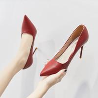 ZHR 女婚鞋伴娘鞋职业通勤鞋子女高跟鞋女细跟女单鞋女鞋