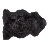 Hanlin 黑色羊皮地毯