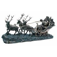 Genesis 创世纪《雪橇上的圣诞老人》铜雕 - 26英寸