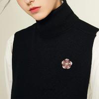 【胸針美飾季】愛緹卡AITEKA一款兩戴多寶扇寶格麗風格天然珍珠胸針╱毛衣鏈