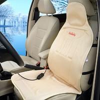 卡飾社 碳纖維加熱座墊 汽車座墊車載加熱墊坐墊 米色