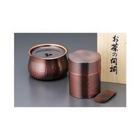 銀聯專享 : 食樂工坊 銅茶罐 /全銅儲茶缸墾穗套裝(木制禮盒裝)
