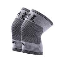 TFO 柔软针织面料 中性男女款弹力保暖防护护膝 浅灰 均码