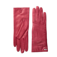 COACH 蔻驰 Leather Basic Gloves 女士皮手套