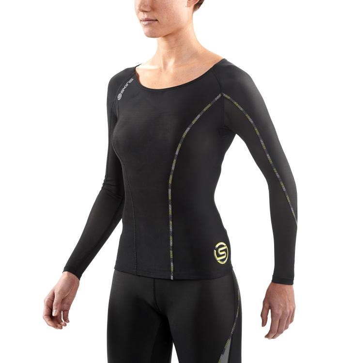 SKINS 思金斯 女士健身服 DA99060059240 灰黑柠檬 XS