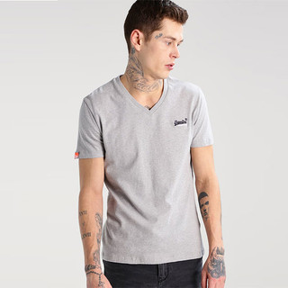 Superdry 极度干燥 Orange Label系列 复古刺绣V领短袖T恤