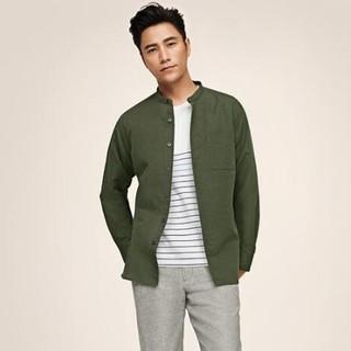 UNIQLO 优衣库183595 男士麻棉立领衬衫