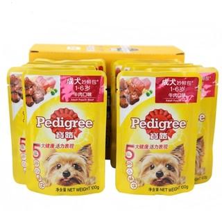 Pedigree 宝路 成犬妙鲜包 牛肉口味 100g*12包*5件