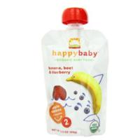 Happy Baby 禧贝有机果泥 香蕉甜菜蓝莓味 2段 99g