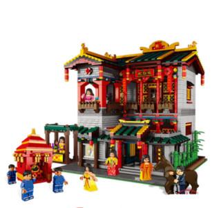 星堡积木 街景中华街系列  XB-01003 怡红院 拼装玩具