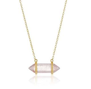 Amazon Collection 紫水晶吊坠18K镀金银质项链