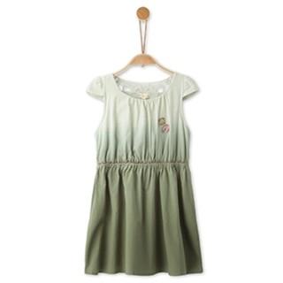 Jeep 吉普  女童休闲梭织纯棉裙子 军绿色