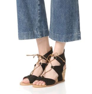 Dolce Vita Langly 女士真皮坡跟凉鞋