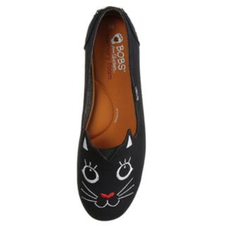 SKECHERS 斯凯奇  Bobs Plush 可爱小猫 女士舒适一脚蹬懒人鞋