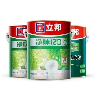 NIPPON PAINT 立邦  净味120竹炭五合一墙面漆套装 面漆5L*2+底漆5L×1