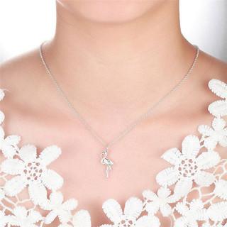Lily Charmed 925银火烈鸟吊坠锁骨项链