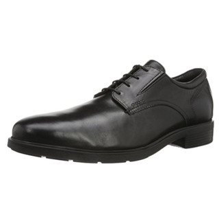 Geox 健乐士 U Dublin 男士休闲皮鞋 黑色 EU40