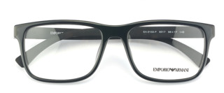 EMPORIO ARMANI 阿玛尼 板材框架眼镜EA3103F 5017 56 +依视路1.552非球面钻晶A+树脂镜片+雅漾喷雾50ml