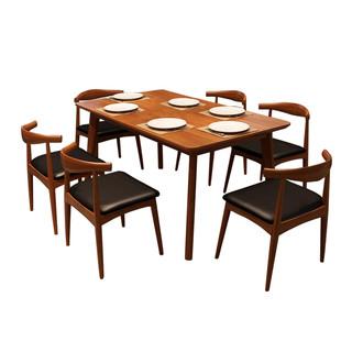 MINGJIAYOU 明佳友 M9060 北欧实木餐桌组合 1.38米