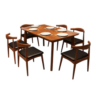 MINGJIAYOU 明佳友 M9060 北欧实木餐桌组合