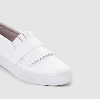 Soft grey 女士流苏低帮休闲鞋