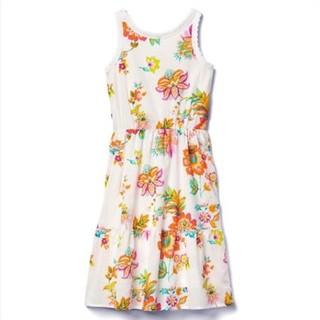 Gap 705288 女童纯棉花卉图案裙子  *3件
