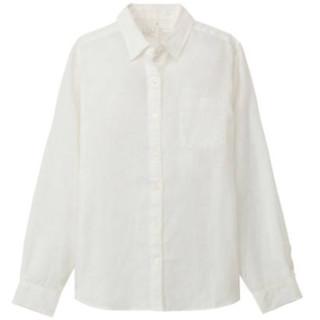 MUJI 无印良品 27SC229 女士亚麻衬衫