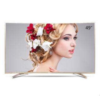 Haier 海尔 LQ49S81 49英寸 曲面 4K液晶电视