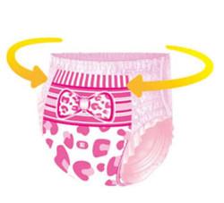 Anerle 安儿乐 女宝宝 扭扭弹力裤 XL96片 *3件