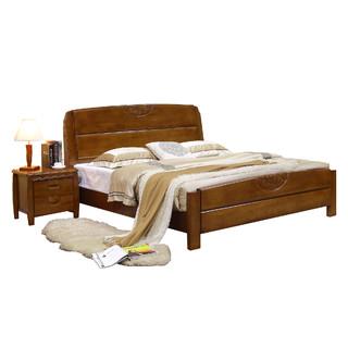 美天乐 中式实木框架床 1.8*2m