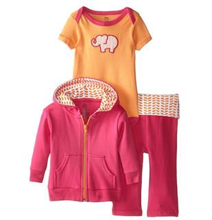 Yoga Sprout 美国熊宝宝  90050 女童套装 外套+哈衣+长裤 XL