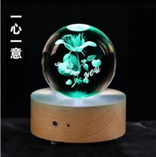 一生有你 七彩水晶球音乐盒