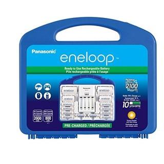 eneloop 爱乐普 K-KJ17MCC82A 智能充电套装(含5号电池*8、7号电池*2)