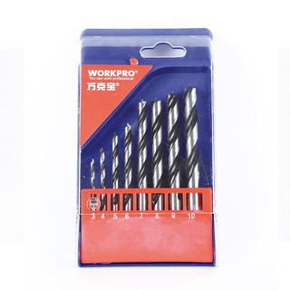 WORKPRO 万克宝 W124024N 8pc 黑槽木工钻头套装