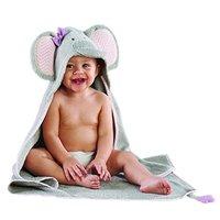 Baby Aspen 婴儿连帽大象纯棉浴袍 灰色 3.9*8.7*12.2英寸