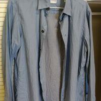 阿玛尼,armani collezioni,九五新,s码,蓝色衬衣