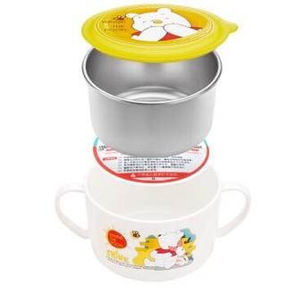 预售、移动端 : Disney 迪士尼  妙趣维尼不锈钢儿童餐具