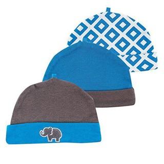 Yoga Sprout 婴儿纯棉帽子 90101灰色 3件装