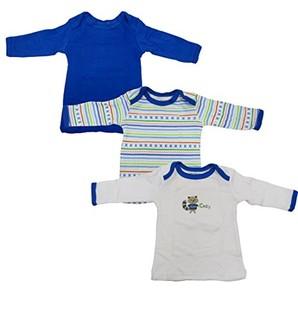 Luvable Friends 美国熊 男婴纯棉长袖T恤 3件装 0-3个月