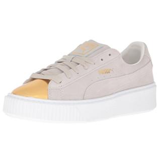 限US10码、中亚Prime会员 : PUMA 彪马 Suede Platform Gold 女款复古休闲鞋